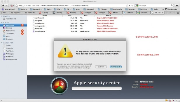 Apple Web Security Trojan