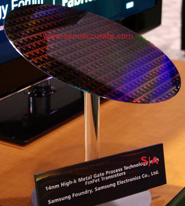 Samsung 14nm wafer