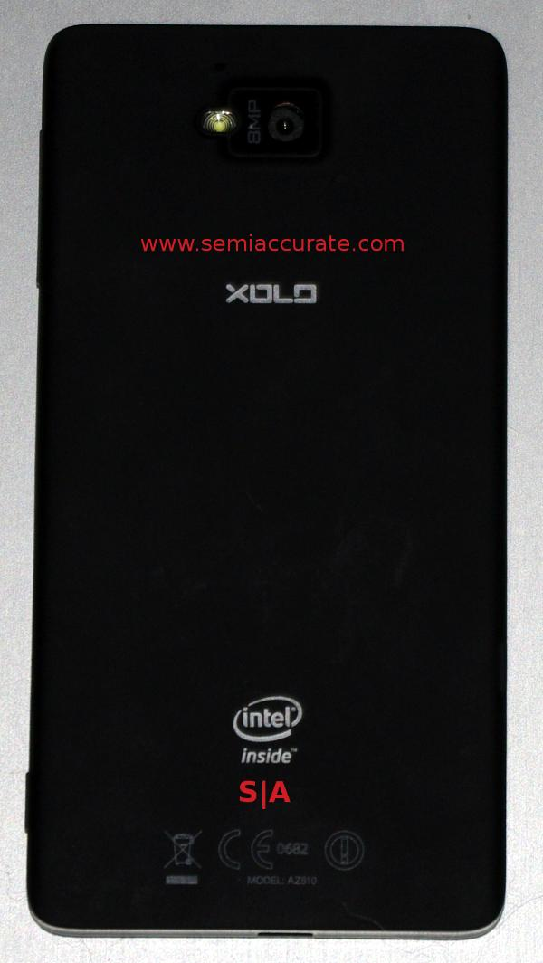 Intel Medfield Lava Xolo X900 phone read