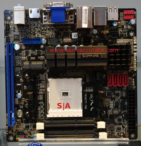 Sapphire Trinity micro-ATX board