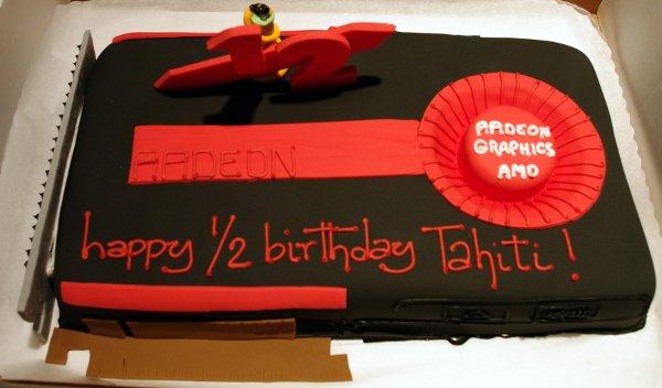 Tahiti 2 half birthday cake