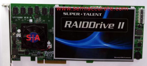 SuperTalent Raiddrive II PCIe SSD