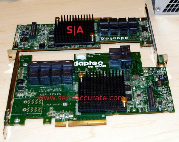 Adaptec 24 port SAS cards