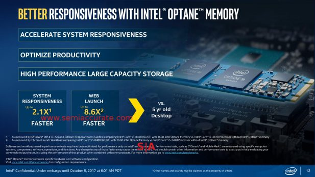 Intel 8th Gen Xpoint/Optane slide