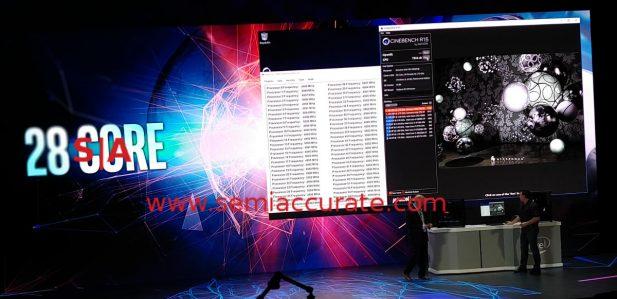 Intel 28-core demo