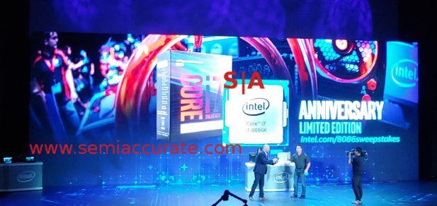 Intel 8086K reveal