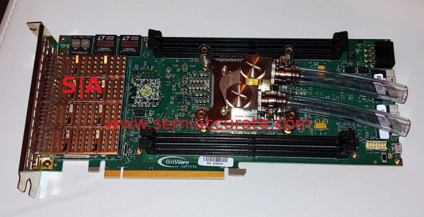 Bitware/Nallatech water cooled XUVV4 FPGA card