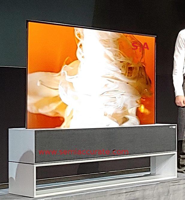 LG Signature OLED TV R fully up