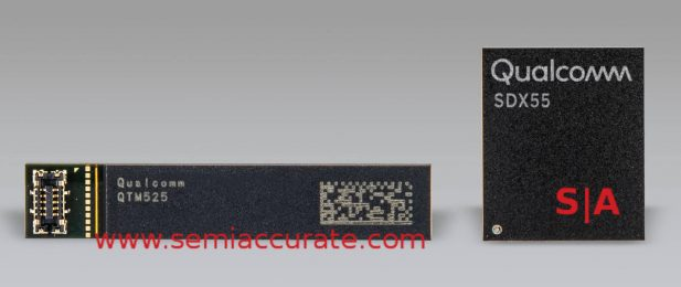 Qualcomm X55 modem and QTM525 antenna module