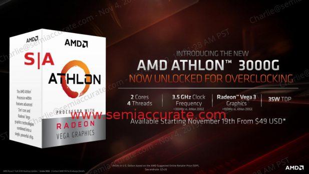 AMD Athlon 3000G specs