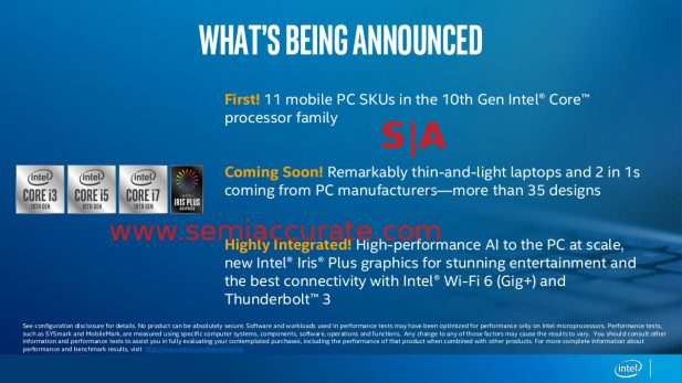 Intel Ice Lake 35 designs slide