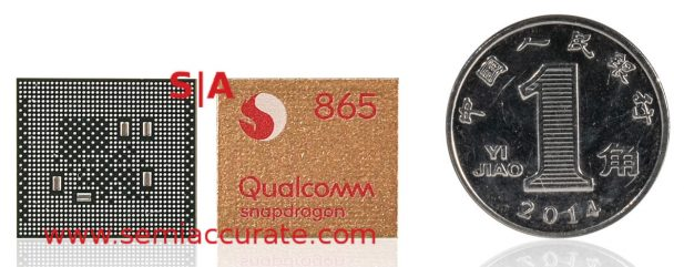 Qualcomm Snapdragon 865 5G SoC front and back