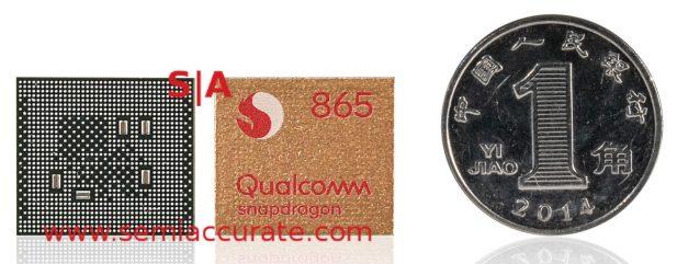 Qualcomm Snapdragon 865 5G SoC front and back