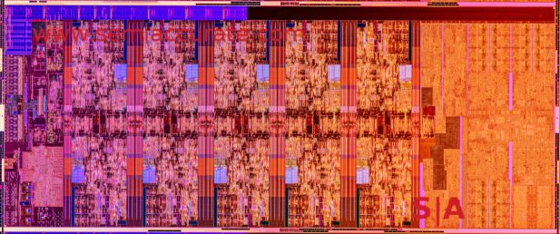 Intel 10C die shot