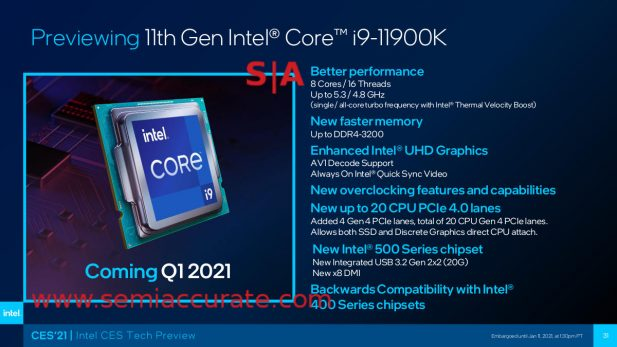 Intel Rocket Lake i9-11900K preview