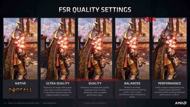 AMD FSR quality settings