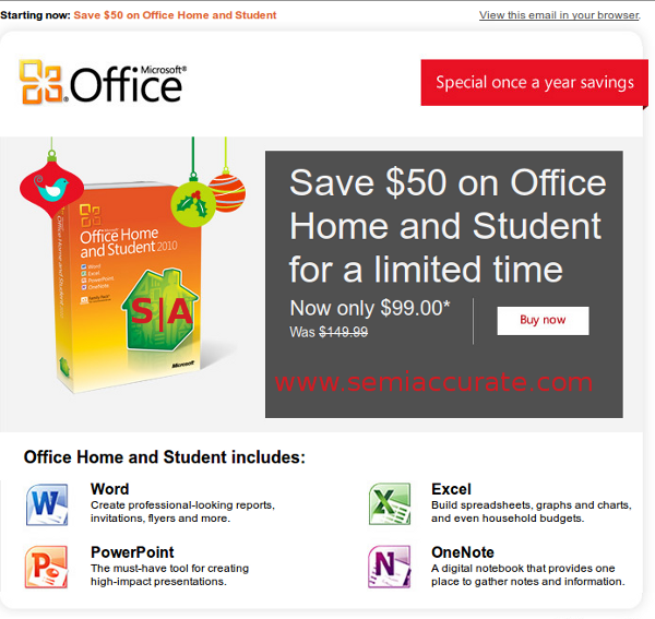Microsoft Office discount email