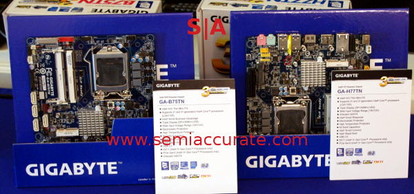 Gigabyte half-height ITX boards