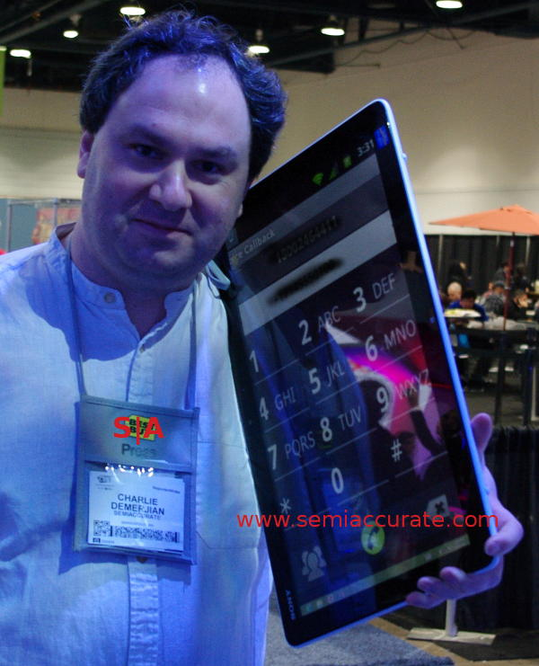 Sony Intel Core i7 phone platform prototype