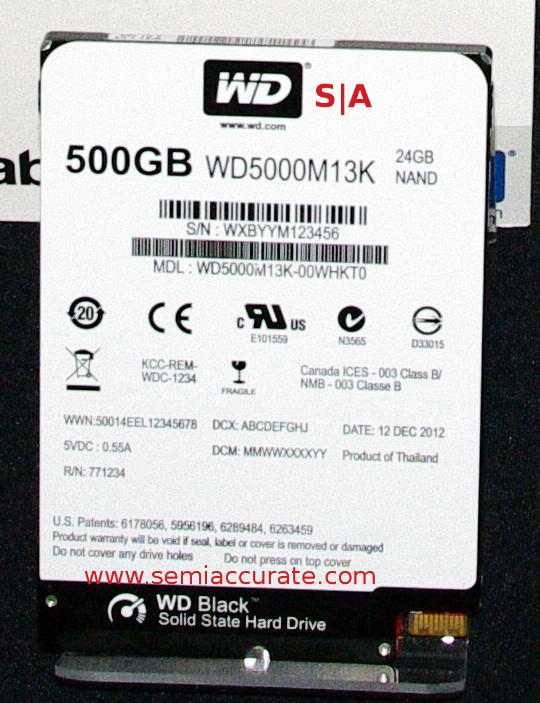 Western Digitial 500GB SSHD Black