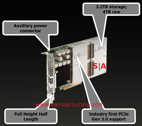 LSI 4TB PCIe3 WarpDrive  glisten array