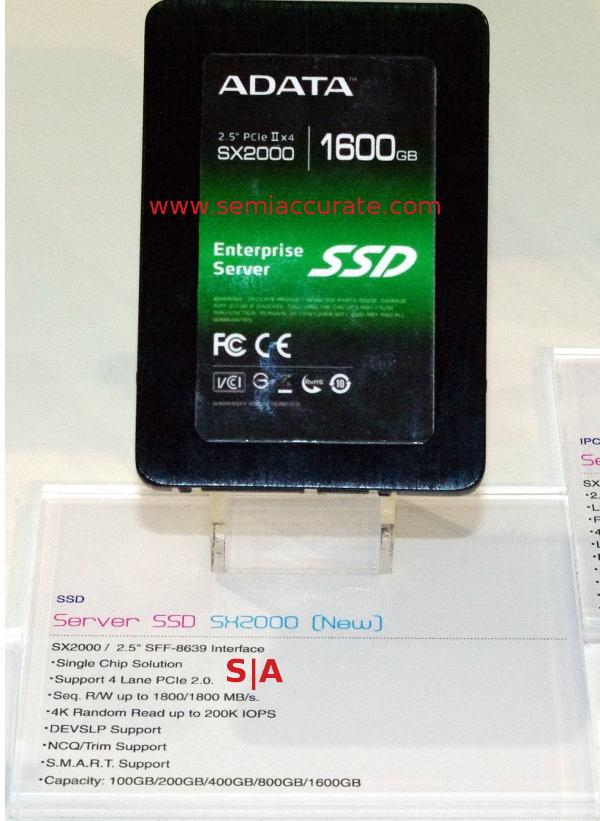 """AData SX2000 NVMe 2.5"""" SSD"""