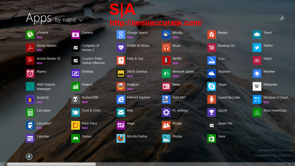 Windows 81 All Apps