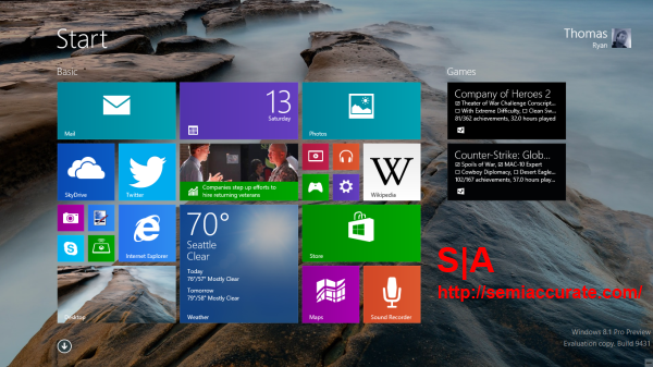 Windows 81 Start Screen