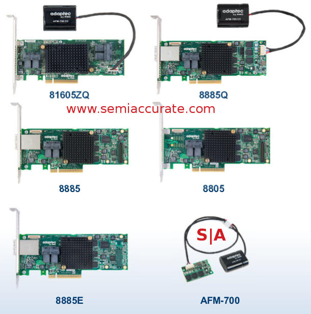 Adaptec 8-Series RAID card lineup
