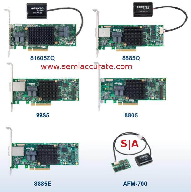 Adaptec 8-Series RAID card lineup
