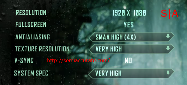 Crysis 3 Settings