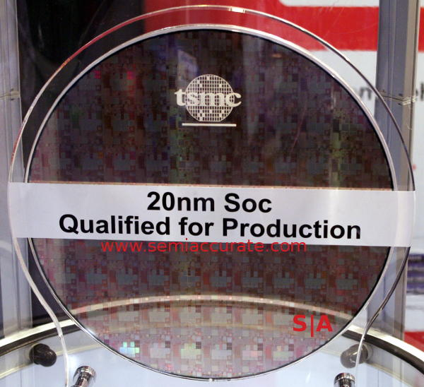 TSMC 20nm SoC wafer