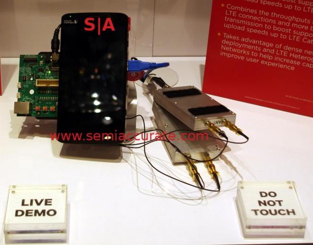 Qualcomm X12 LTE demo