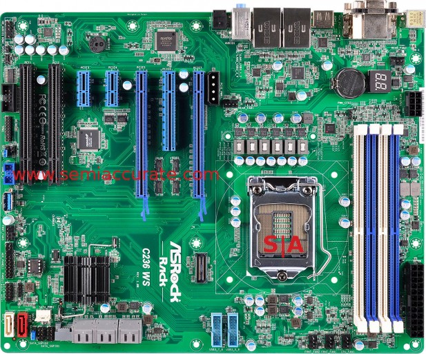 Asrock Rack C236 WS workstation board