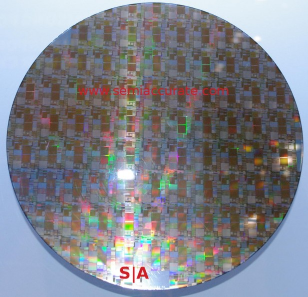 Samsung 10nm wafer of test chips
